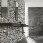Glass and stone mosaic tile